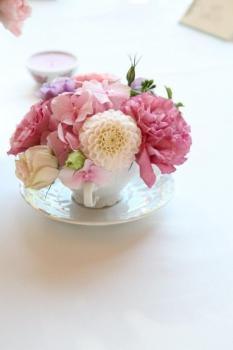 Šálka s kvetinami