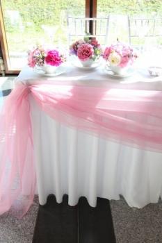 Výzdoba novomanželského stolu