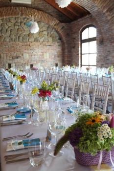 Svadobná výzdoba stolov